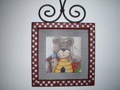 Teddy Bear Wall Hanging by KellysCountryStore on Etsy, $8.50