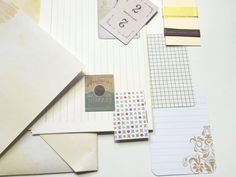 Letter set Coffee & Cream by PaperTrailDiary on Etsy