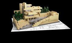 Fallinwater... Frank Lloyd Wright... LEGO