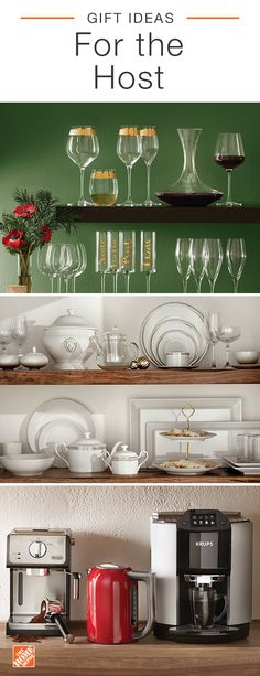 Find the perfect gift for those on your list who love to host and entertain. Explore bakeware, glassware, serveware and barware. Click to shop these products and find the perfect gift for everyone on your list at The Home Depot.