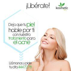 ¡Elimina el acné y aumenta tu autoestima!  Las marcas por el acné serán cosa del pasado con Kosmetic Spa porque renovamos tu piel para que la luzcas sin ningún tipo de irritación.