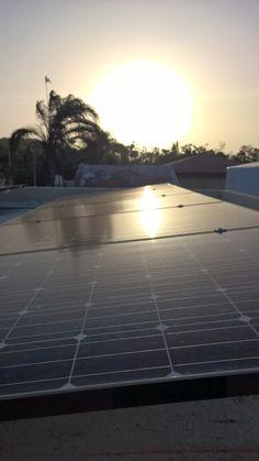 Los paneles solares también merecen descansar luego de un largo día de trabajo. ☀