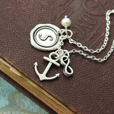 Love this anchor infinity charm necklace!!  @foltzfam4