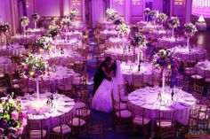 The decor looks magical at this wedding at the beautiful event venue-The Grove in New Jersey.