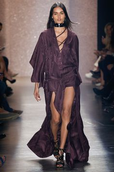 Purple Short to Long Dress Ensemble by Lilly Sarti São Paulo Fall 2016 Collection Photos - Vogue