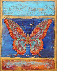 I uploaded new artwork to fineartamerica.com! - 'Fanciful Orange Butterfly' - http://fineartamerica.com/featured/fanciful-orange-butterfly-jean-plout.html via @fineartamerica