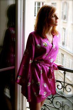 Kimono Robe with basic seam finishing