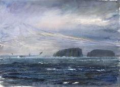 Storm Petrels - Lars Jonsson - watercolor Uppsala, Wildlife, Sketches, Waves, Sea, Drawings, Artwork, Artist, Painting
