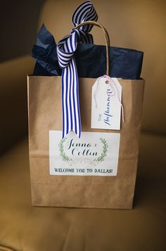 Ribbon welcome bag made for boston?