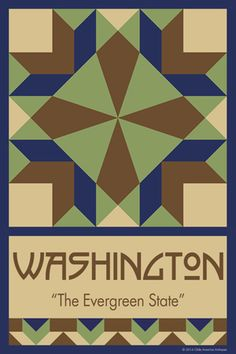 WASHINGTON quilt block. Ready to sew. Single 4x6 block $4.95.