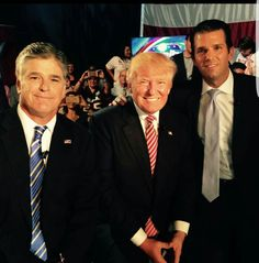Ahhh, Trump and Sean Hannity - doesn't get much better than that!!