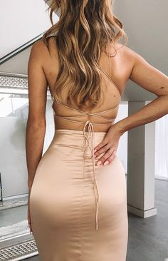 Manhattan Slip Formal Dress Champagne - - 💟💜❤😜 Source by frankiedefoe Pretty Prom Dresses, Stunning Dresses, Nice Dresses, Long Tight Dresses, Sexy Long Dress, Prom Outfits, Mode Outfits, Fashion Outfits, Satin Dresses