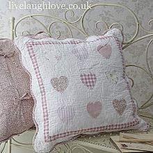 Patchwork 9 Srdce Pinks Povlak na polštář, 50 cm Sq