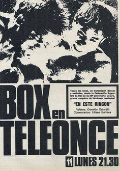 Publicidad del Canal ONCE, Buenos Aires, década del 60.