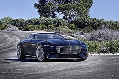 At this year's gathering of the most magnificent classic cars at Pebble Beach in California, Mercedes-Benz is once again set to present a highlight: the Vision Mercedes-Maybach 6 Cabriolet. Mercedes Benz Maybach, Maybach Coupe, Mercedes Sport, Custom Mercedes, Bmw Sedan, Cadillac, Roadster, Cabriolet, Pebble Beach