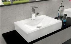 REA umywalka ceramiczna nablatowa ścienna Xara 450x300 x100 mm