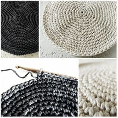 Minimalist crocheted placemats found and made by Pigtails. There's a pattern via the link. Loving her muted colour choices — btw this hooker (and blog) is awesome!!