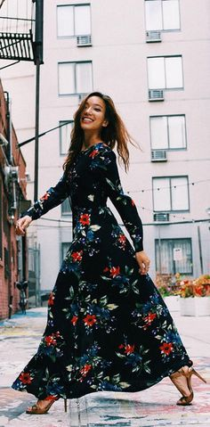Pinterest @esib123 #style #inspo #fashion long floral dress
