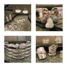Not Your Nana's Silver — The art of taking something old and making it new again. Fork Jewelry, Silverware Jewelry, Vintage Cutlery, Spoon Bracelet, Silver Trays, Spoon Rings, Something Old, Necklaces, Bracelets