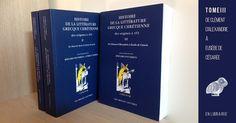 Mise à jour du 20 juin 2017 : le tome III de l'Histoire de la littérature grecque chrétienne des origines à 451, inédit, vient de paraître. Histoire de l'édition En 2008, aux Éditions du Cerf…