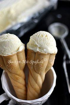 Vanilleeis ohne Eismaschine