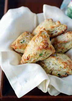 Savory Scones with Gruyere, Prosciutto and Green Onion | www.kitchenconfidante.com