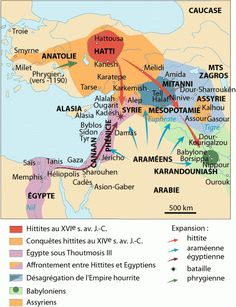 This is a map of the Ancient Near East and it shows where the Hittites, Egyptians, Babylonians and Assyrians during the 16th 14th century BC.