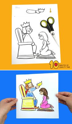 Esther Becomes a Queen Craft Toddler Sunday School, Sunday School Crafts For Kids, Sunday School Activities, Bible Activities For Kids, Bible Crafts For Kids, Preschool Lessons, Bible Story Crafts, Bible Stories, Queen Esther Bible