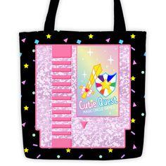 Cutie Quest Tote bag  #videogames #gamer #gameboy #kawaii #sparkle #controller #nintendo
