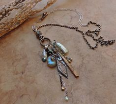 Talisman Necklace with Basha Beads Ancient by DesertTalismans