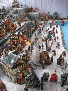 Diy Christmas Village Displays, Lemax Christmas Village, Halloween Village, Christmas Town, Christmas Villages, Christmas Themes, Christmas Holidays, Merry Christmas, Christmas In England