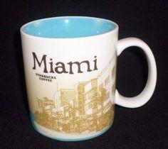 Starbucks 2012 MIAMI Coffee Mug Cup Global Icon City Collector Series 16 Oz  #Starbucks