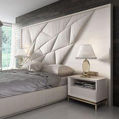 trendy bedroom bed back design Trendy Bedroom, Bedroom Sets, Home Bedroom, Modern Bedroom, Bedroom Decor, Bedding Sets, Bedroom Furniture Design, Master Bedroom Design, Furniture Ideas