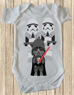 Darth Vader and Storm Troopers Cutest Baby by retrostate on Etsy