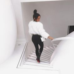 "Amber Scholl on Instagram: ""when your new fluff matches the stairs PS IM TAKING YOU BABES SHOPPING WITH ME!! London shopping vlog now up """