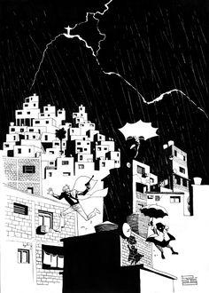 Rio 1 - Batman vs. The Joker and The Penguin by Eduardo Risso *