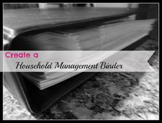 Organizing Life with Less: Household Management Binder