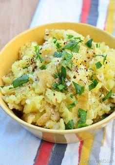 Slimming Eats Rustic Garlic and Parmesan Mashed Potatoes - gluten free, paleo, vegetarian, Slimming World and Weight Watchers friendly