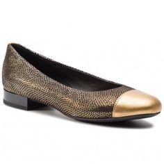 Balerina GEOX - D Wistrey D D844GD 0JSNF C2016 Dk Gold Balerina, Vogue, Flats, Gold, Shoes, Fashion, Loafers & Slip Ons, Moda, Zapatos