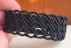Micro Macramé, Boho, Beaded Bracelets, How To Make, Collar, Jewelry, Projects, Ideas, Bangles