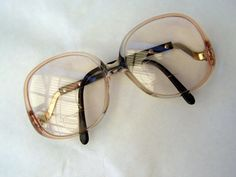 Vintage Eyeglasses with Big Lens Frames for Women / 1980's Big Eye Glasses Frames with Curvy Arms on Etsy, $21.85 CAD