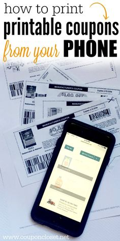How To Print Printable Coupons From Phone
