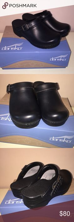 NIB Dansko Ingrid black clogs 8 You may be more comfortable sizing downward for open-back models (for example, if you are a US size 6.5, you may want to choose EU size 36).  Dansko Ingrid black clogs. New in the box. Size 8 Dansko Shoes Mules & Clogs