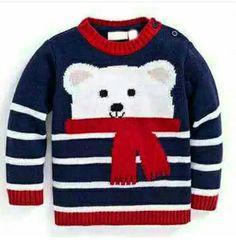 Polar bear cashmere mix jumper the best crochet shoes for kids kids planet babyschuhe stricken babyschuhestricken Baby Boy Knitting Patterns, Knitting For Kids, Baby Patterns, Crochet Patterns, Crochet For Boys, Crochet Baby, Pull Bebe, Baby Boy Jackets, Knit Baby Sweaters