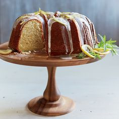 Buttermilk Bundt Cake with Lemon Glaze Recipe on Food & Wine. This is the ultimate buttermilk Bundt cake, nicely browned on the outside, with a soft, tender crumb. Delicious Cake Recipes, Dessert Recipes, Healthy Recipes, Frosting Recipes, Delicious Food, Lemon Bundt Cake, Bundt Cakes, Pound Cake, Lemon Cakes