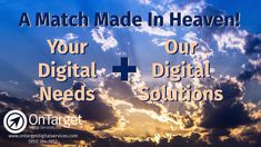 ⛅ THE SKY'S THE LIMIT with your business' online success with the help of OnTarget Digital Services!  Let us help you gain more visibility, referrals and sales with our full-service digital marketing suite. Services starting at $99/month.   Contact us for a quick 20-minute demo.  CALL or TEXT (951) 394-1952  #digitalmarketing #reputationmanagement #onlinereviews #payperclickadvertising #socialmediamanagement #b2b Promote Your Business, Growing Your Business, Pay Per Click Advertising, Forms Of Communication, Customer Engagement, Online Reviews, Reputation Management, The Help, Gain