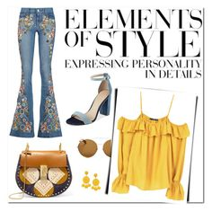 Elements of Style by Nara Puera on Polyvore featuring MANGO, Alice + Olivia, GUESS, Givenchy, Humble Chic and Vera Wang, Chloe, shoulder bag, sunglasses, oversized, rounded, block heels, sandals, off-shoulder blouse, flared jeans,emblissed,floral, fashionable, look of the day, casual, nice, lovely, girly, fashion trends, fashion week, nyc, milan, fashion editor, style setter, outfit,look, lookbook, set, Baku,Azerbaijan