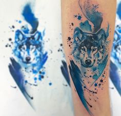 Vibrant, Fluid Tattoos Of Animals That Look Like Pretty Watercolor Paintings…