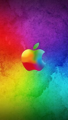 750x1334 Wallpaper apple, colorful, background, brand, logo, bright