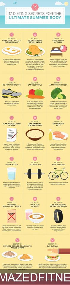 17 Dieting Secrets for the Ultimate #Summer Body #infographic #Health #Dieting
